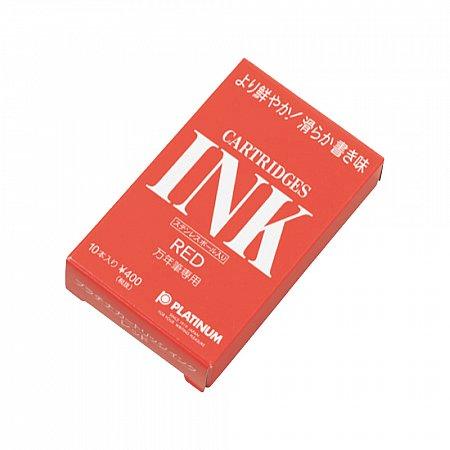Platinum Ink Cartridges (10 pcs) - Red